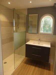 Plomberie salle de bain moderne sur La Chapelle sur Erdre